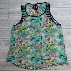 X-Large by & by Floral Tank
